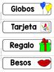 Spanish Word Wall Cards {San Valentín} ESPAÑOL