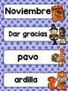 Spanish Word Wall Cards {Thanksgiving} ESPAÑOL Día de Acción de Gracias