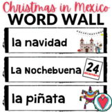 Spanish Christmas Word Wall - Christmas in Mexico Las Posadas