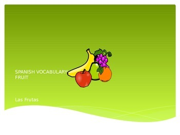 Spanish Word Wall - Fruits