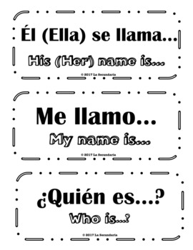 Spanish Word Wall - Greetings and Introductions