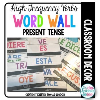 Spanish Word Wall - High Frequency Verbs (Present Tense)