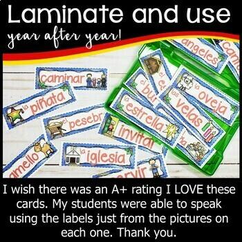 Spanish Las Posadas Word Wall
