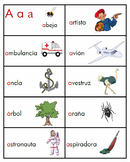 Spanish Word Wall Letter A