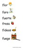 Spanish Word Wall- Letter Ff