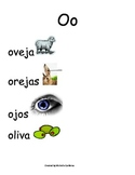 Spanish Word Wall- Letter Oo