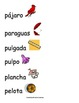 Spanish Word Wall- Letter Pp