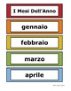 Italian Word Wall - Months of the Year - 12 Designs to choose from!