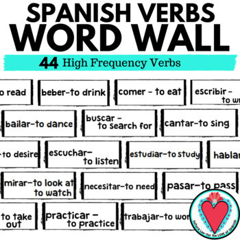Spanish Verbs Word Wall: Spanish High Frequency Verbs