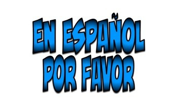 Spanish Word Wall: Must Have Basic and Advanced Phrases (Blue)