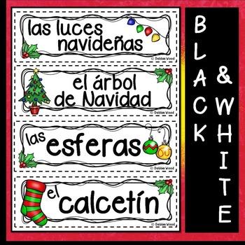 Spanish Word Wall Christmas (La Navidad)