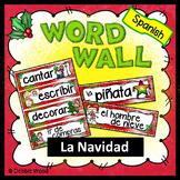 Christmas Spanish Activities Word Wall La Navidad