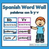 Spanish Sound Wall   Palabras con b y v