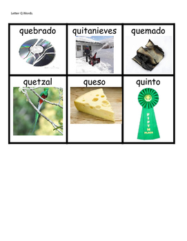 Spanish Word Wall Words- NOPQR