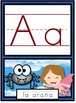 Spanish Word Wall and Manuscript Alphabet