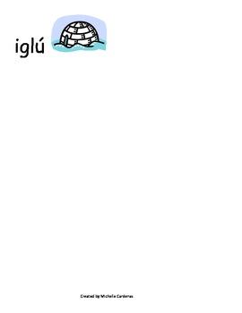 Spanish Word Wall- letter Ii