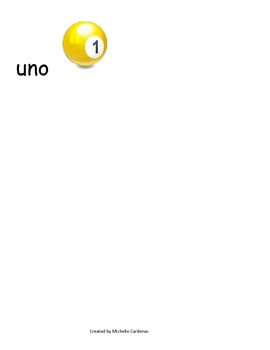 Spanish Word Wall- letter Uu