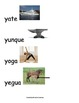 Spanish Word Wall- letter Yy