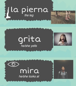 Spanish Word Wall w/pictures