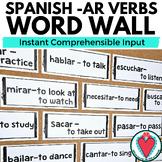 Spanish Word Wall Spanish High Frequency Verbs | -AR Verbs
