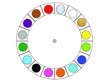 Spanish Word Wheel:  Colors (Los Colores)