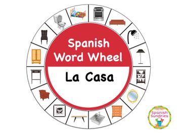 Spanish Word Wheel:  House (Casa)
