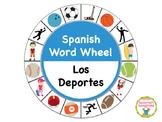 Spanish Word Wheel:  Sports (Deportes)