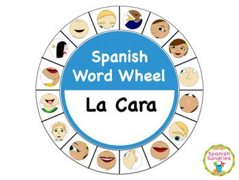 Spanish Word Wheel:  The Face (La Cara)