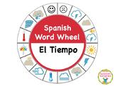 Spanish Word Wheel:  Weather (El Tiempo)