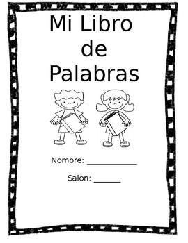 Spanish Word Work Book/ Mi libro de palabras/ vocabulario