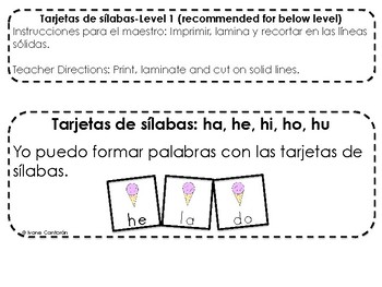 Spanish Word Work Differentiated Center (3 Levels)