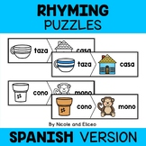 Word Work Puzzles - Spanish Rhyming Words 2