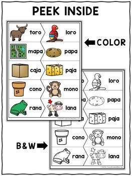 Spanish Rhyming Word Activity Puzzles 2