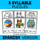Spanish Syllable Activity Puzzles 3