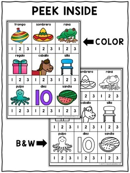 Word Work Cards - Spanish Syllable Clip-It