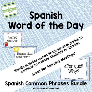 Spanish Word of the Day - Common Phrases Bundle