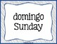 Spanish Word of the Day - Days of the Week