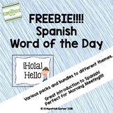 Spanish Word of the Day - FREEBIE