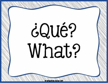 Spanish Word of the Day - Questions