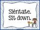 Spanish Word of the Day - School Commands