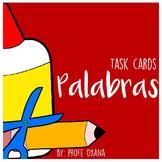 Español Tarjetas de deletreo de palabras - Spanish Word work Spelling Task Cards