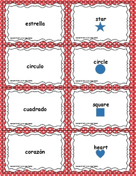Spanish Words - Center Activity