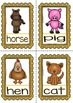 Spanish Words - Posters and Flashcards - (Farm Animals/ Bi