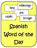 Spanish Words of the Day Seasonal and Fun Bell Ringers