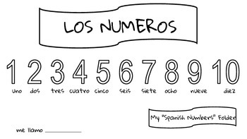 Spanish Work Folder Covers  Printables  Shapes Formas numbers Colors Colores