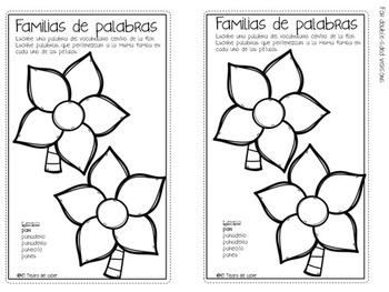 Spanish Word Work Tabs - PLUS Editable Covers - Pestañas de vocabulario