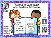 Spanish Word Work Tabs - PLUS Editable Covers - Pestañas de vocabulario