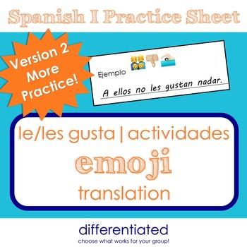 More Le gusta Practice with Emojis - Actividades y Pasatiempos
