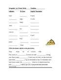 Spanish Irregular Yo Form Verbs Worksheet (Cloze Activity/