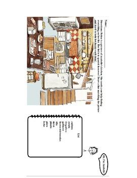 Spanish Worksheet- Kitchen Vocab